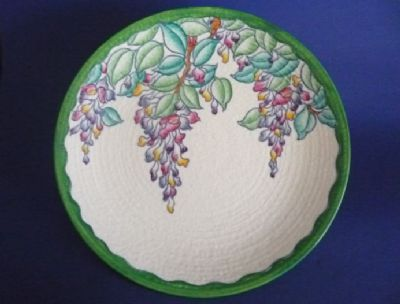 Charlotte Rhead Crown Ducal 'Wisteria' Charger c1937 - Pattern 4954